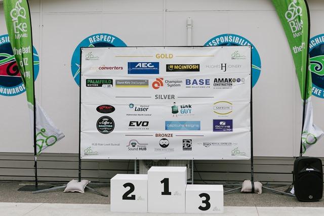 Novice Tour of Manawatu Jersey Presentations after Stage 1.