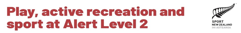Play, Active Recreation and Sport at Alert Level 2